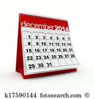 Illustrations and clip art. Clipart december calendar