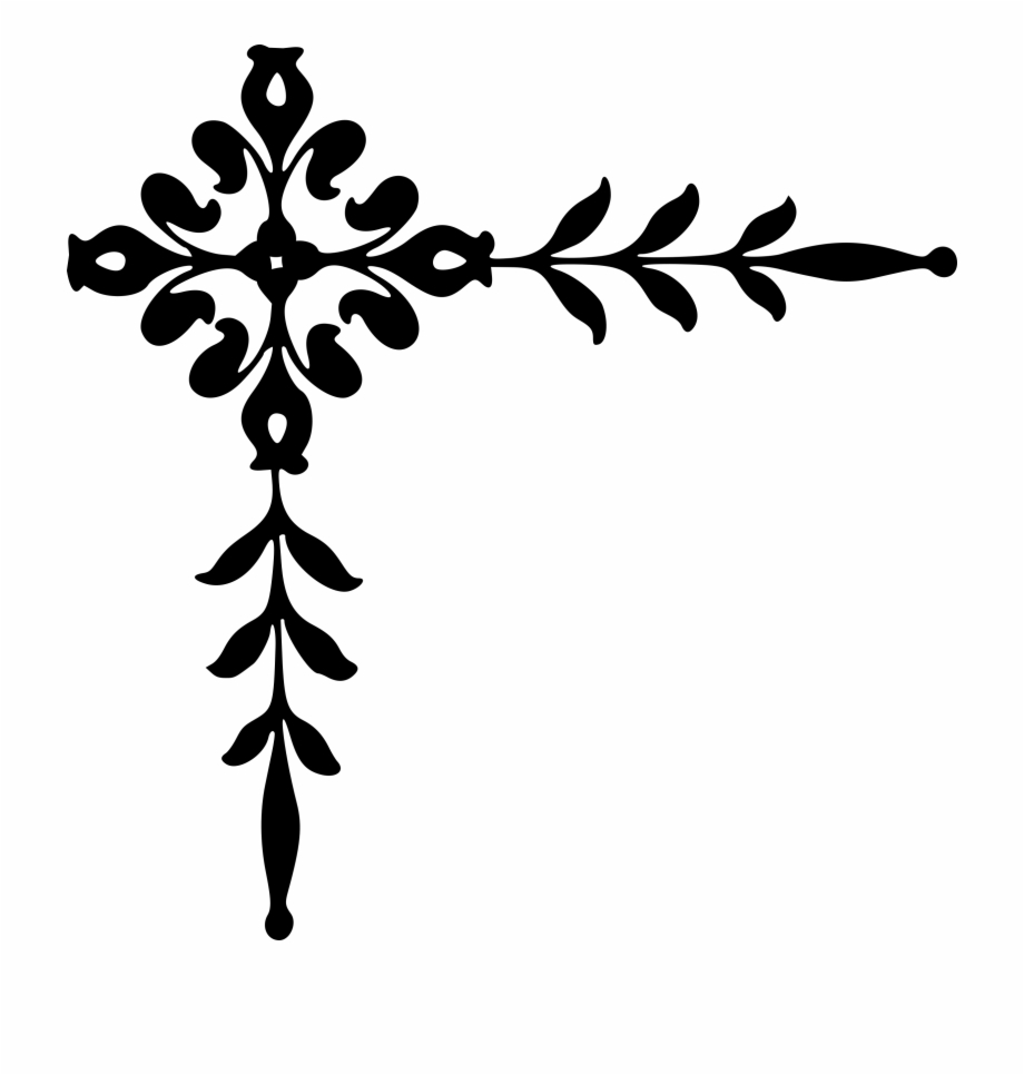 Clipart decoration freeuse library Corner Clipart Black And White - Decoration Png {#289029} - Pngtube freeuse library
