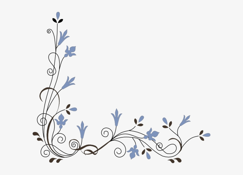 Decoration clipart images transparent Decoration Clipart Pretty Flower - Corner Flower Vector Png ... transparent