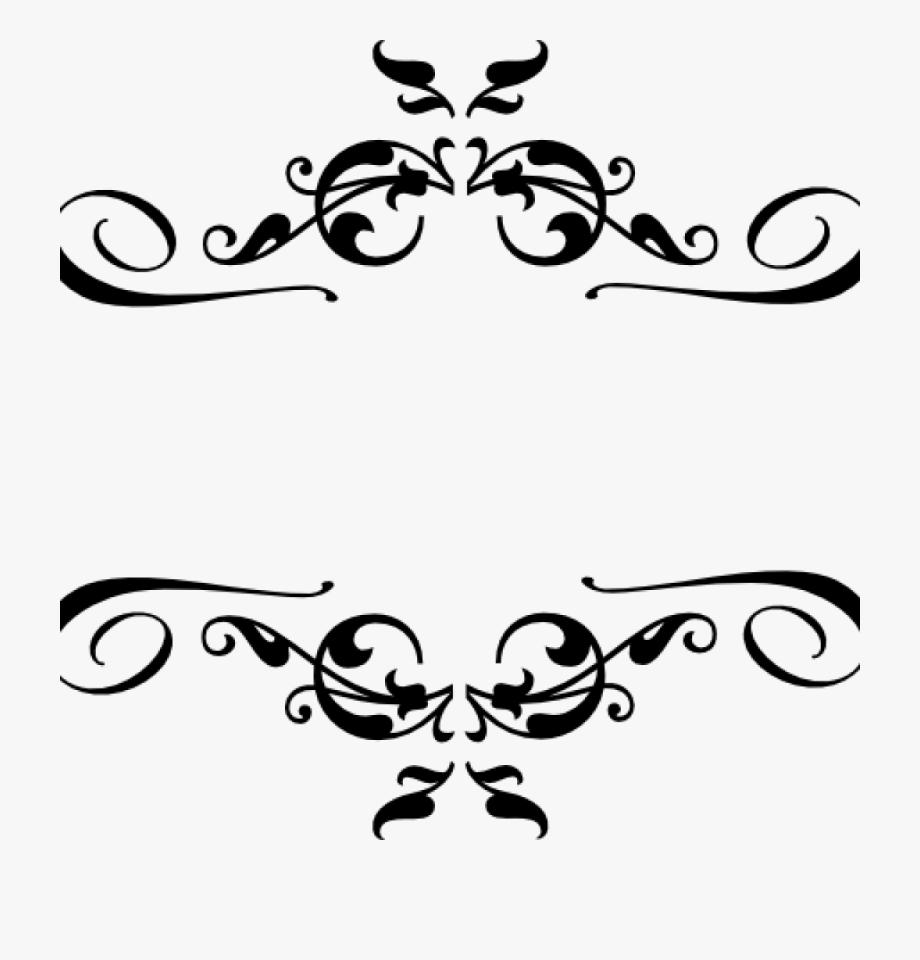 Clipart decorative elements vector stock Corner Border Clipart Black Heart And Bows Corner Borders ... vector stock