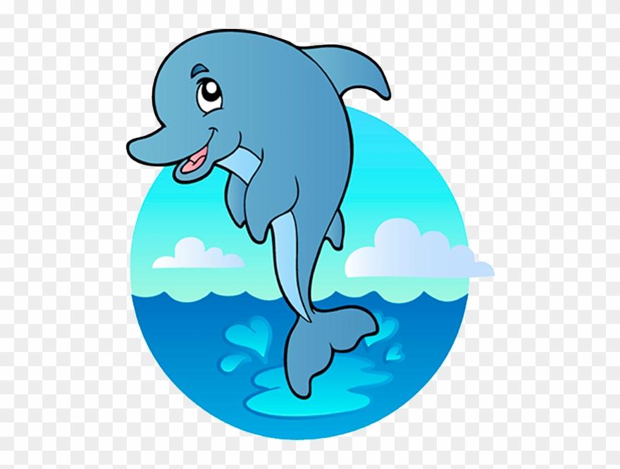 Clipart delfin picture black and white download Delfin - Under The Sea Animals Clip Art - Png Download (#3384413 ... picture black and white download
