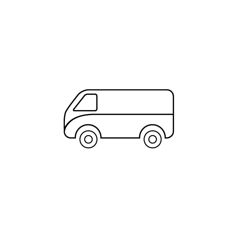 Clipart delivery car vector black and white download Wagon, delivery vehicle, public transportation, tempo van icon vector black and white download