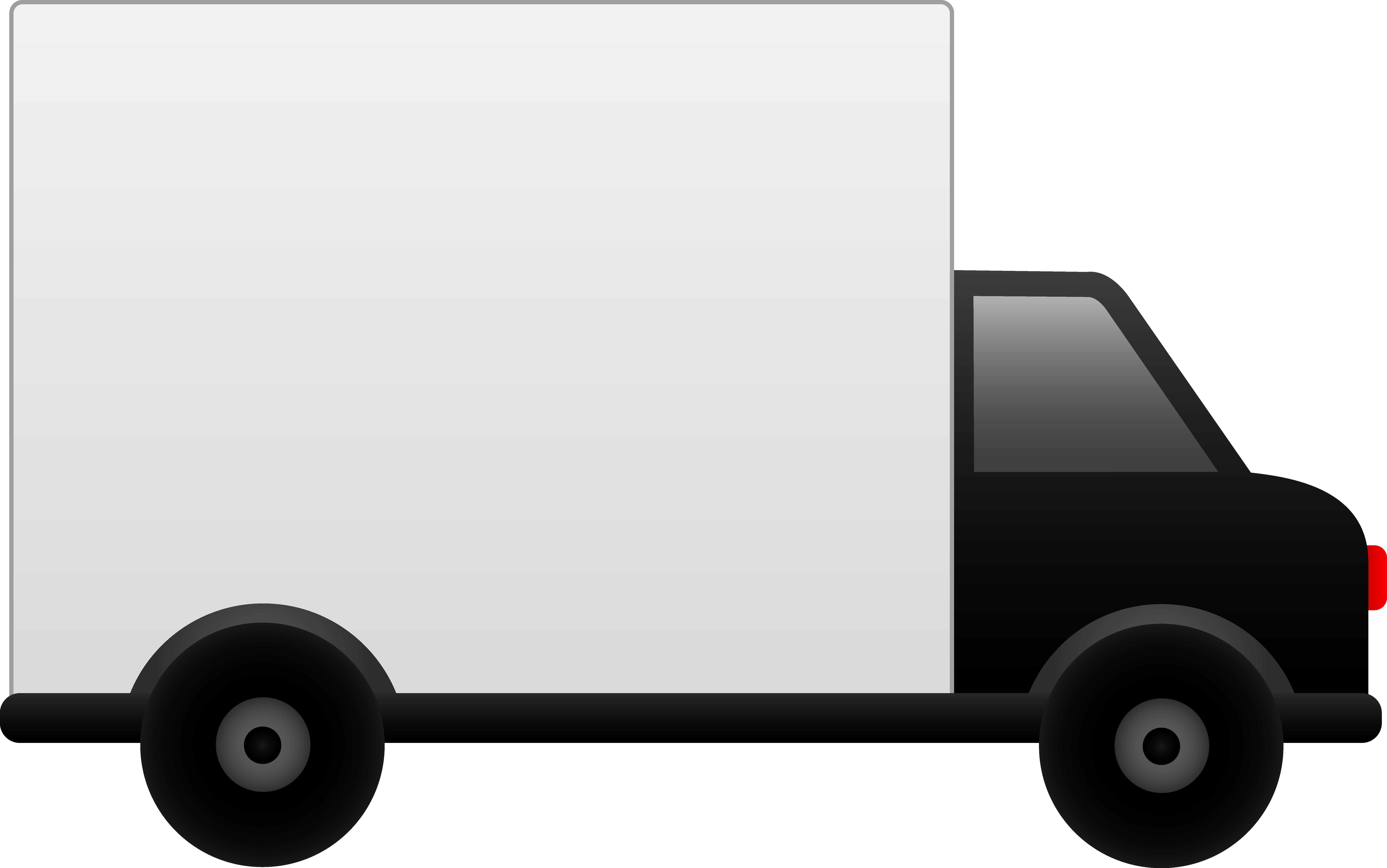 Clipart delivery car graphic free stock White Delivery Truck - Free Clip Art graphic free stock