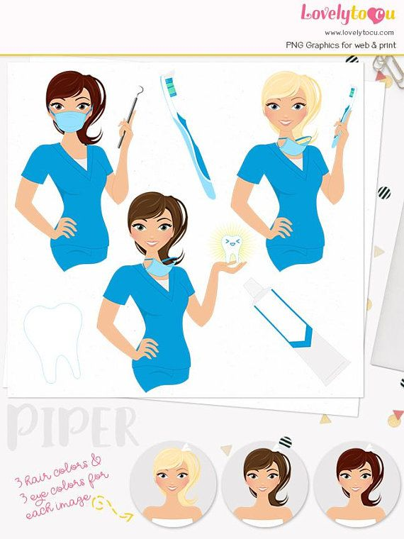 Clipart dental care clip free stock Woman dentist character clipart, dental care illustration, hygienist ... clip free stock
