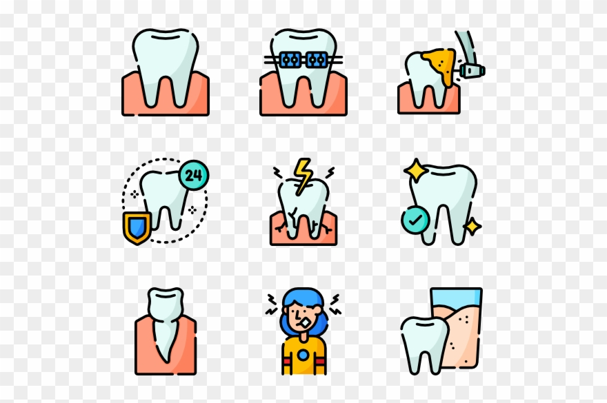 Clipart dental care clip black and white stock Dentist And Dental Care - Icon Clipart (#1845419) - PinClipart clip black and white stock