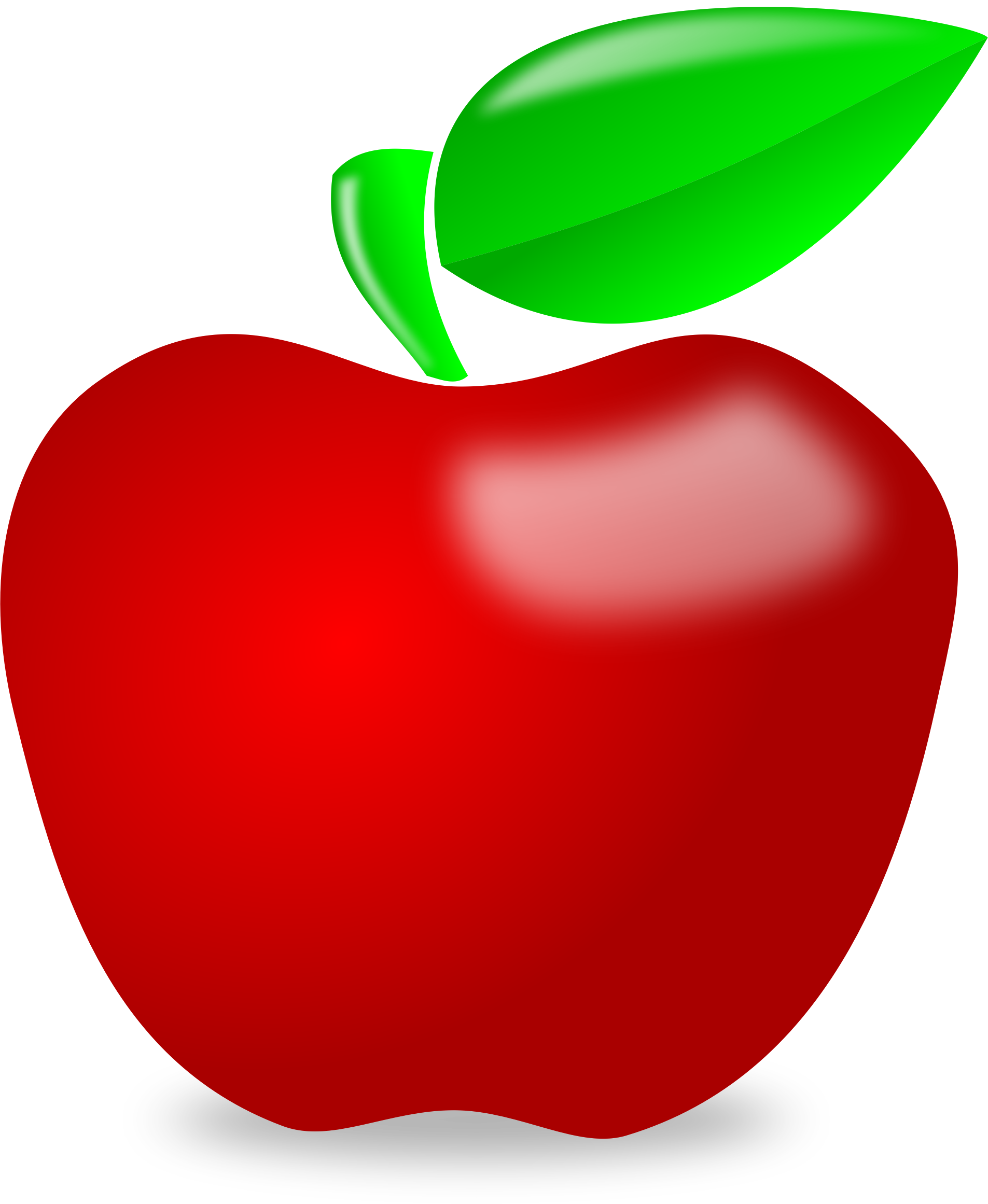 Clipart designed apple royalty free download Clipart - Glossy apple royalty free download