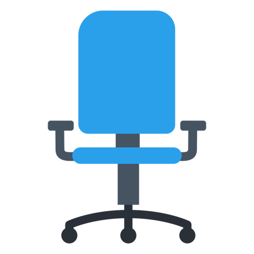 Office chair clipart image jpg free Blue office chair clipart - Transparent PNG & SVG vector jpg free