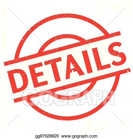 Clipart details transparent download Vector Illustration - Details rubber stamp. EPS Clipart gg97528620 ... transparent download