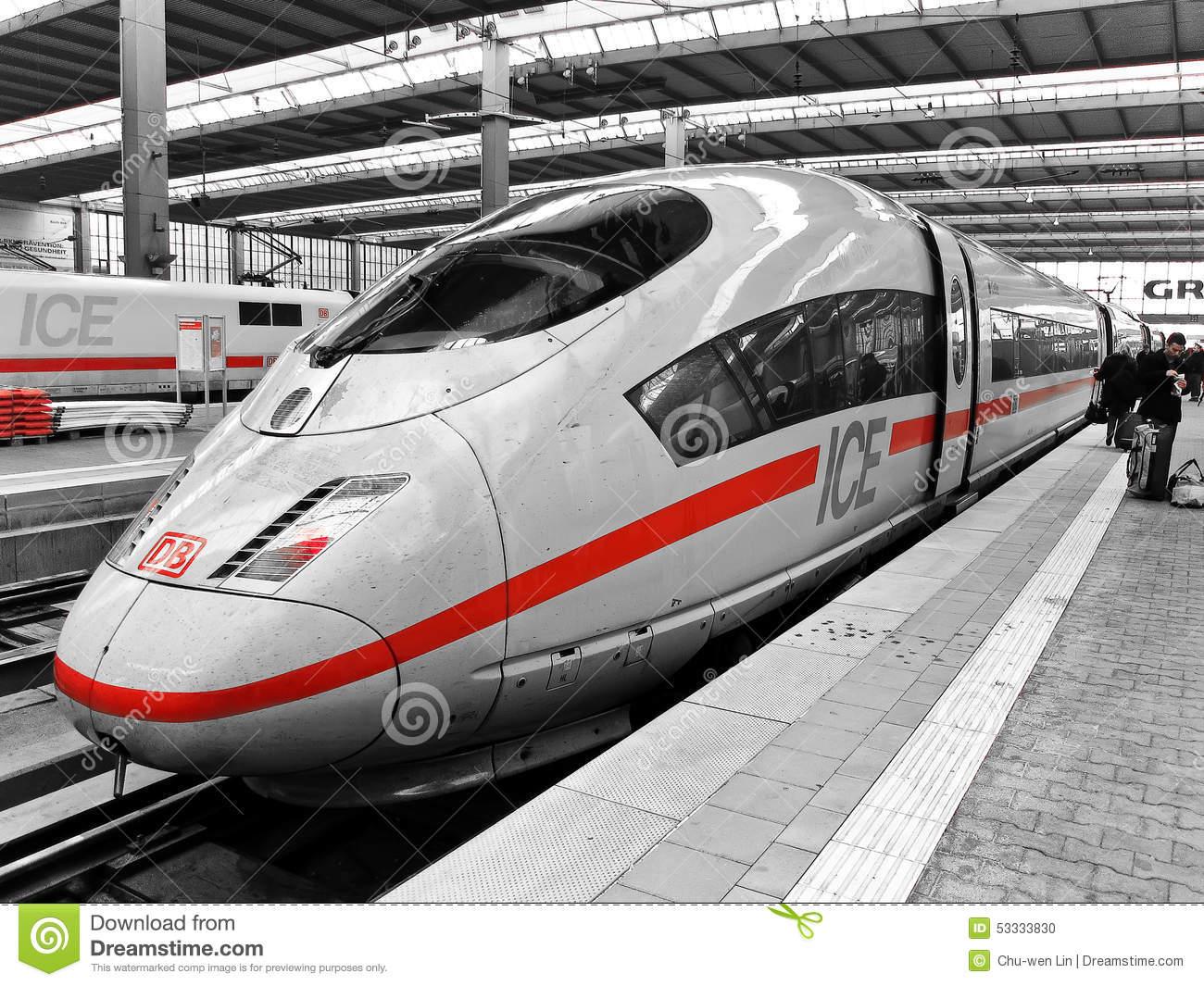 Clipart deutsche bahn. Train editorial image intercity