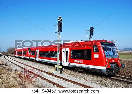 Picture of local train. Clipart deutsche bahn