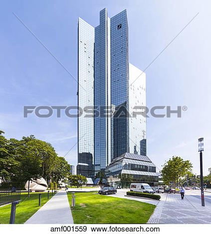 Clipart deutsche bank clip art freeuse library Stock Photograph of Germany, Hesse, Frankfurt, twin towers of ... clip art freeuse library