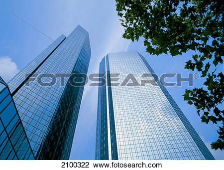 Clipart deutsche bank png library download Stock Photo of Low angle view of skyscrapers, Deutsche Bank ... png library download