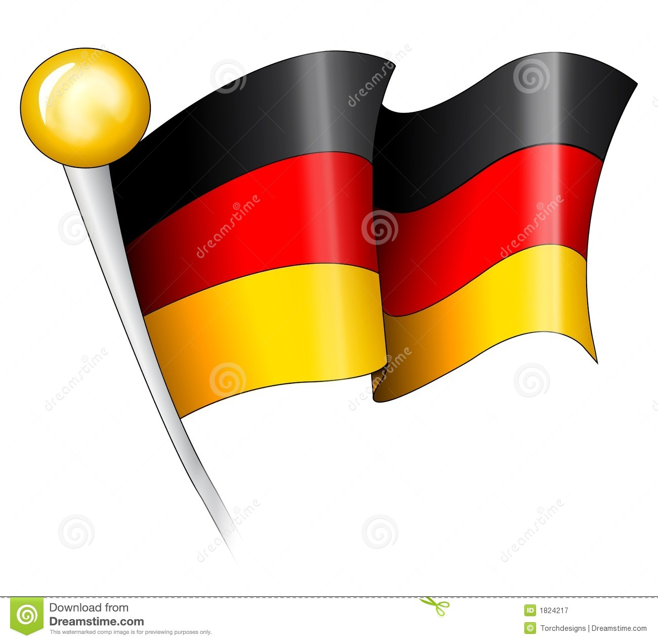 Clipart deutsche flagge. Nationalist stock illustrations german