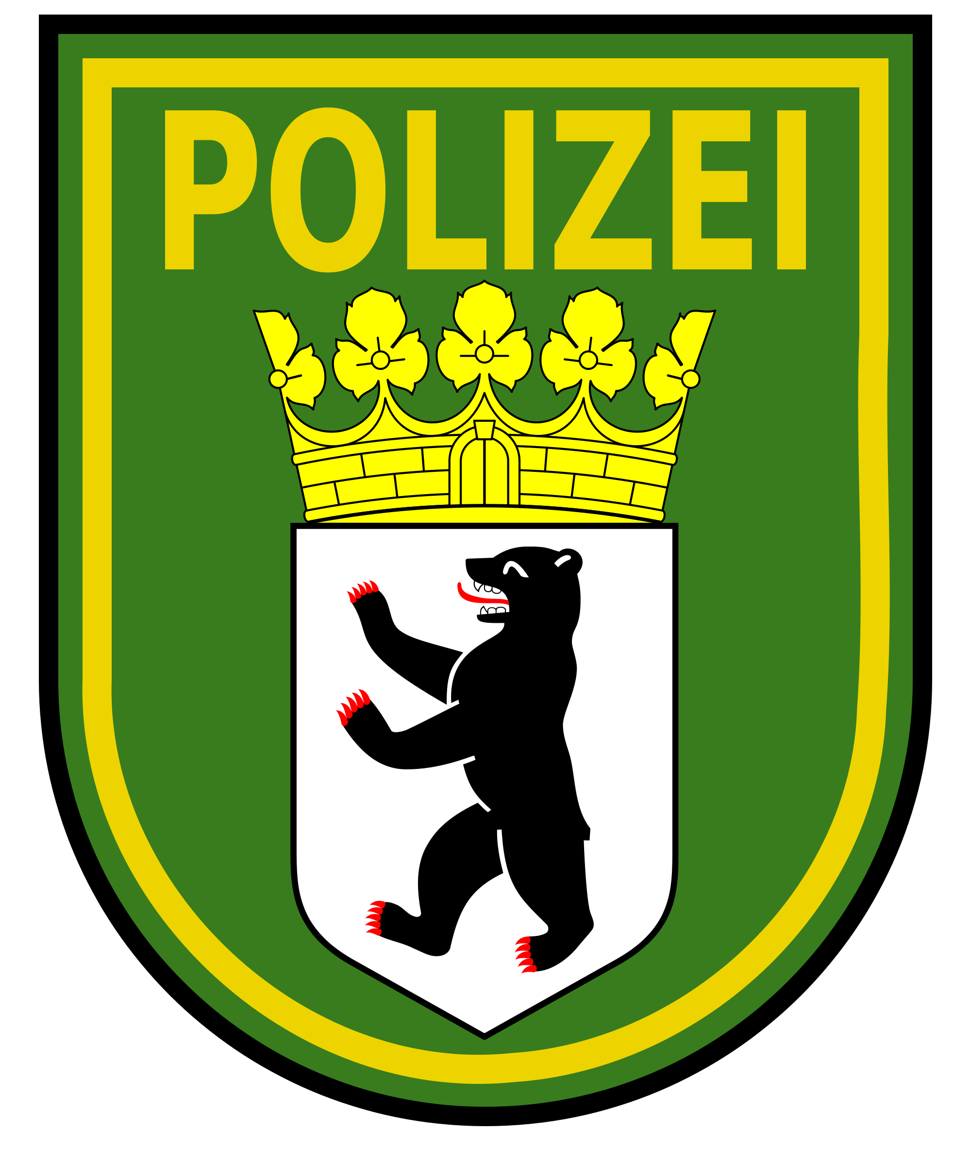 Clipart deutsche polizei clipart library download File:Berlin Police Patch.svg - Wikimedia Commons clipart library download