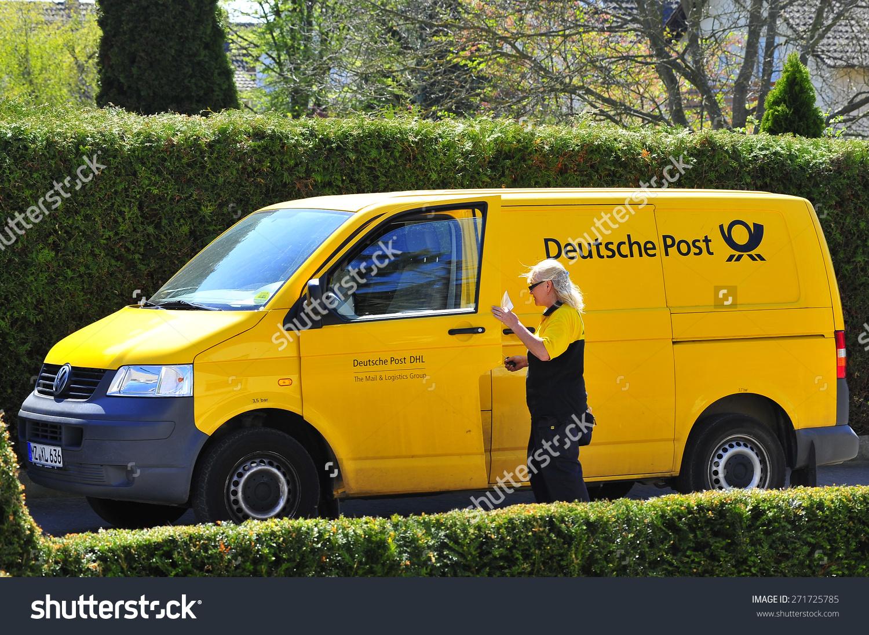 Clipart deutsche post picture black and white Frankfurtgermanyapril 22yellow Van Deutsche Post On Stock Photo ... picture black and white