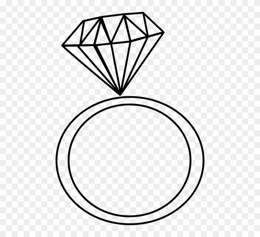 Clipart diamond ring png transparent download Claddagh Ring Clipart - Diamond Ring Clipart Black And White - Png ... png transparent download