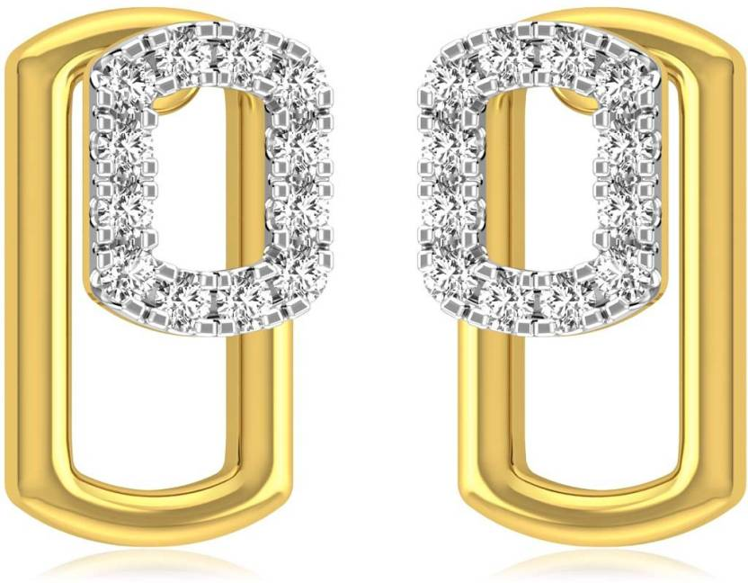 Clipart diamonds online shopping banner free download Rockrush Finesque Diamond Earrings Yellow Gold 18kt Stud Earring ... banner free download
