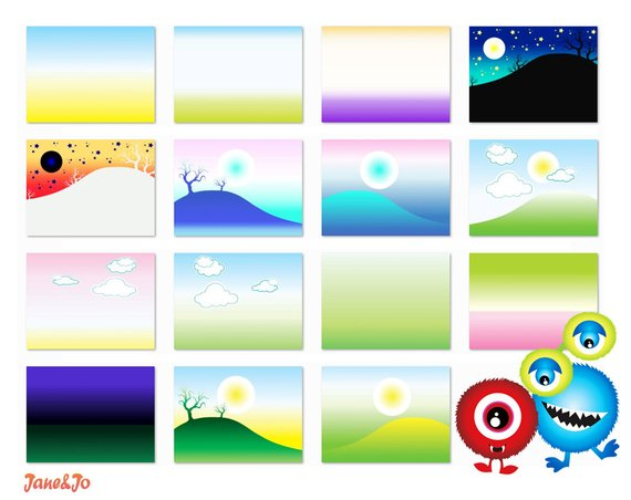 Clipart digital background clip free stock 23 Monster Cliparts 15 Backgrounds,Monster clipart with digital ... clip free stock