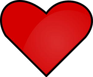 Clipart dil vector Red Heart Clip Art at Clker.com - vector clip art online, royalty ... vector