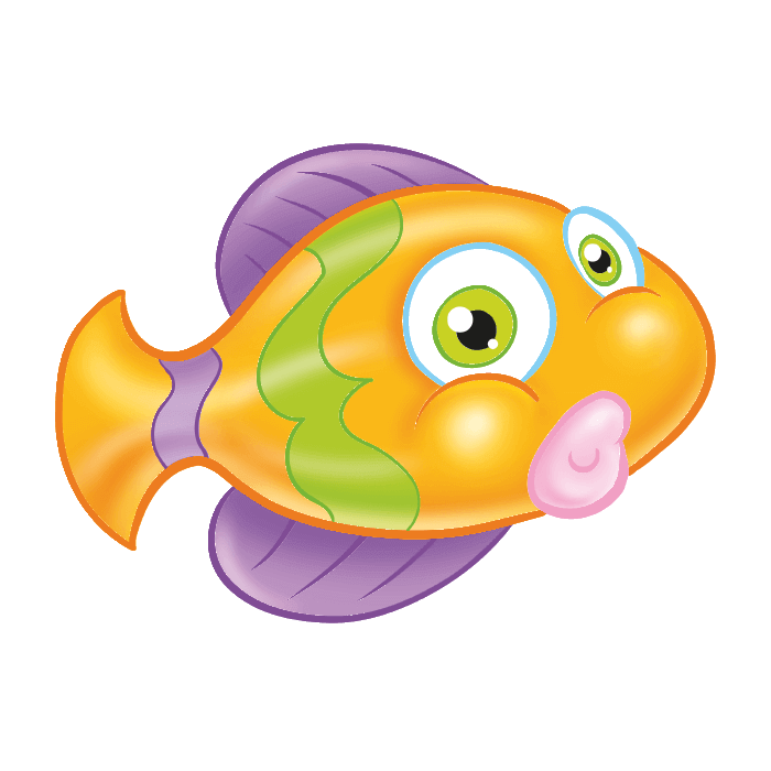 Clipart dinosaur fish svg transparent stock Tropical Fish Wall Decals for Kids, Yellow Fish Sticker svg transparent stock