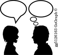 Speaking and listening clipart