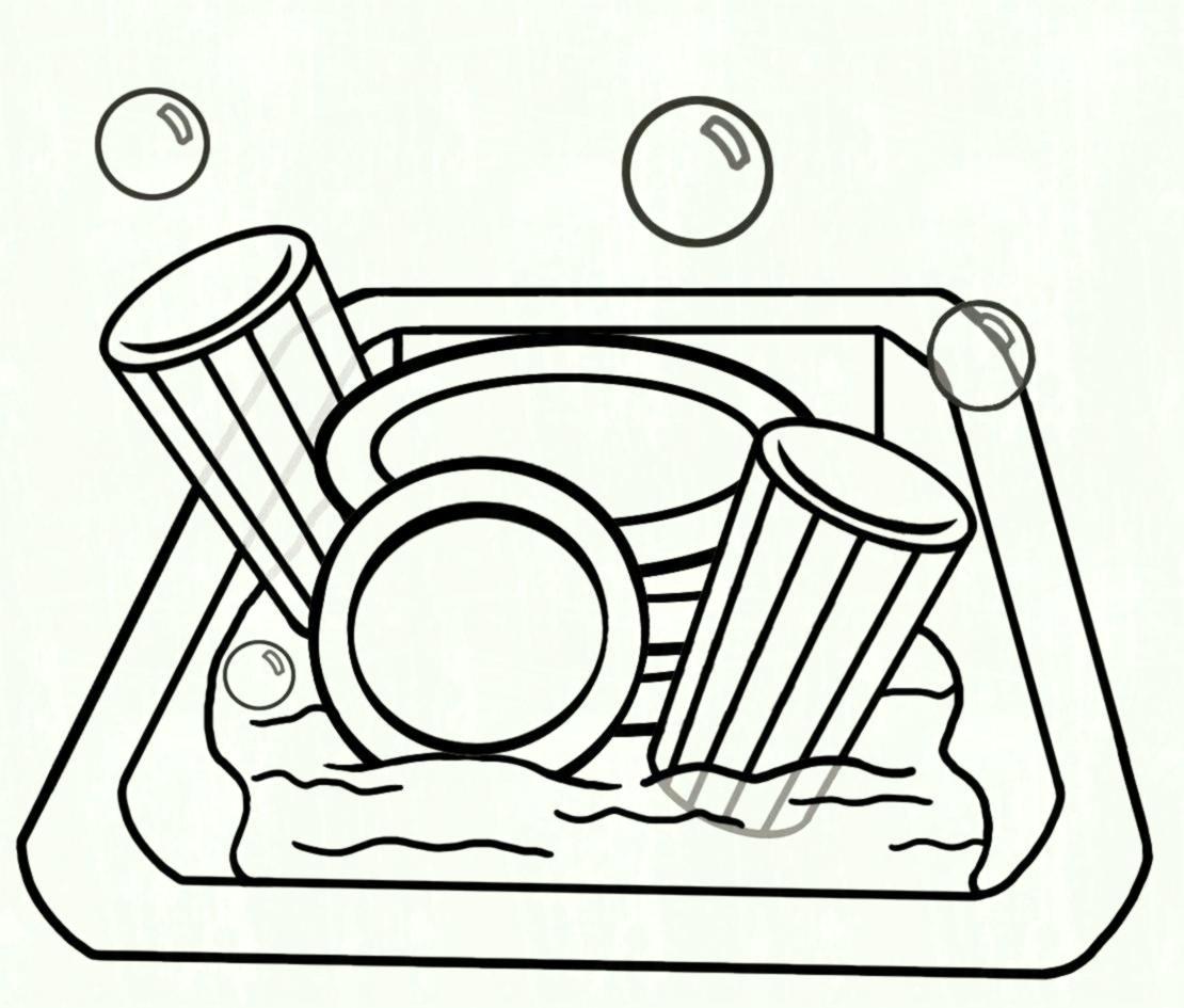 Clipart dishes in sink clipart Dishes in sink clipart 5 » Clipart Station clipart