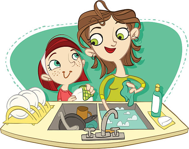Clipart dishes in sink vector Dishes in sink clipart 2 » Clipart Station vector