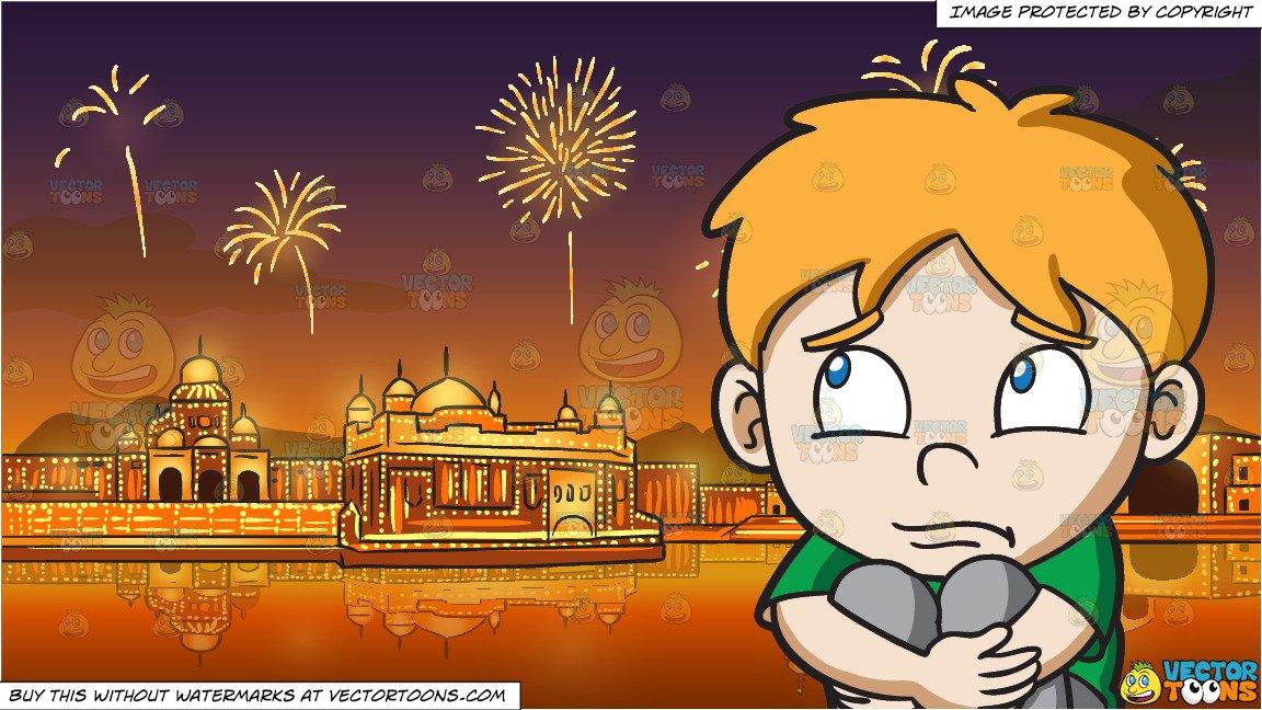 Clipart diwali background png transparent library A Sad Boy and Fireworks Display Celebrating Diwali Background png transparent library