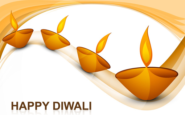 Clipart diwali background png free stock Lluminated oil lamp on beautiful diwali background Free vector in ... png free stock