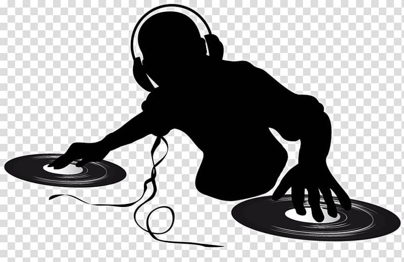 Dj background clipart clip black and white Music DJ illustration, Disc jockey Turntablism , DJ transparent ... clip black and white