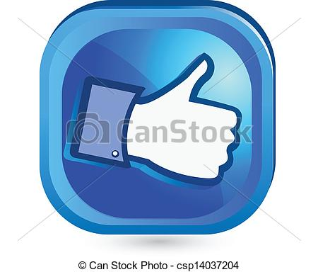 Clipart do facebook banner royalty free download Vector Clip Art of button like facebook, the most popular social ... banner royalty free download