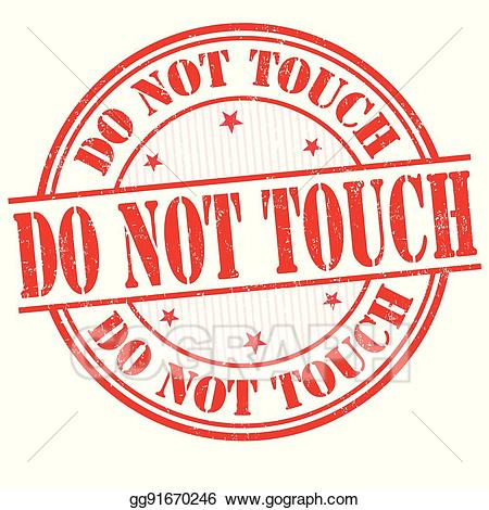 Clipart do not touch
