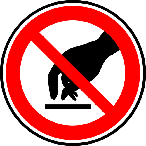 Clipart do not touch clipart royalty free library Do not touch warning sign vector drawing | Public domain vectors clipart royalty free library