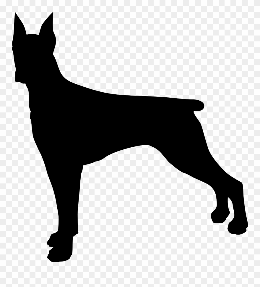 Clipart doberman banner royalty free Doberman Dog Silhouette Clip Art - Doberman Silhouette Png ... banner royalty free