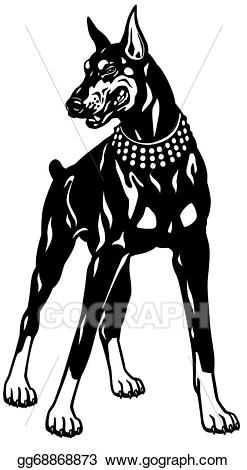 Clipart doberman banner freeuse library Vector Art - Doberman . Clipart Drawing gg68868873 - GoGraph banner freeuse library