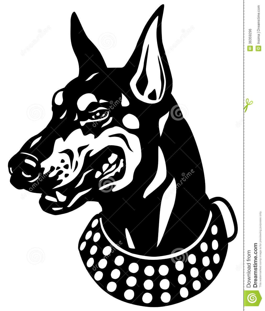 Clipart doberman svg transparent stock Gallery for - snarling dog clip art | Projects to Try in 2019 ... svg transparent stock