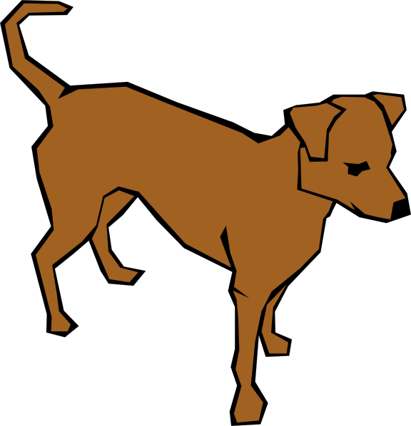 Family clipart with dog. Drawn straight lines clip
