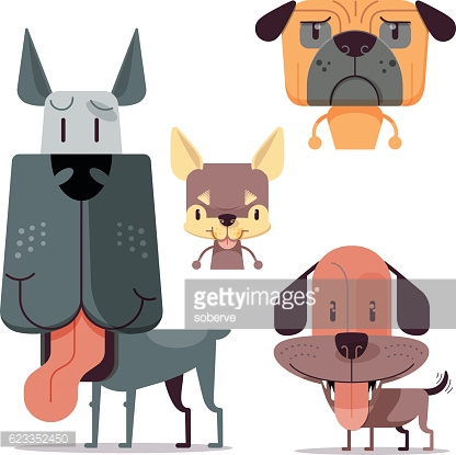 Clipart dog bigand small vector black and white stock Big And Small Dogs Vector Art | Getty Images vector black and white stock