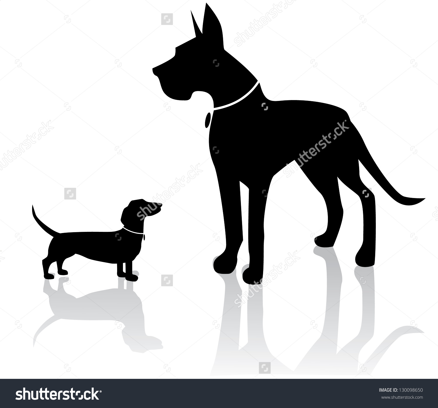 Clipart dog bigand small graphic transparent library Clipart dog bigand small - ClipartFest graphic transparent library