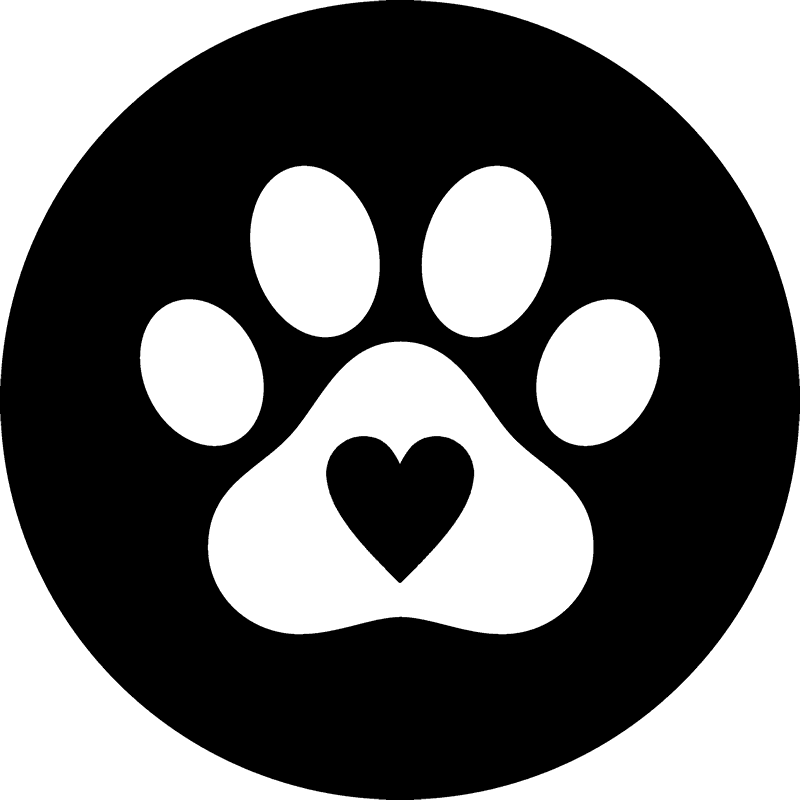 Clipart dog & cat with heart graphic free library Paw Print Seal with Heart Rubber Stamp | Dog, Cat & Fur Baby Stamps ... graphic free library