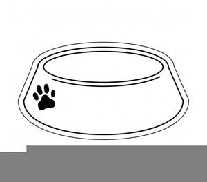 Free dog bowl clipart vector black and white download Free Clipart Dog Bowl | Free Images at Clker.com - vector clip art ... vector black and white download