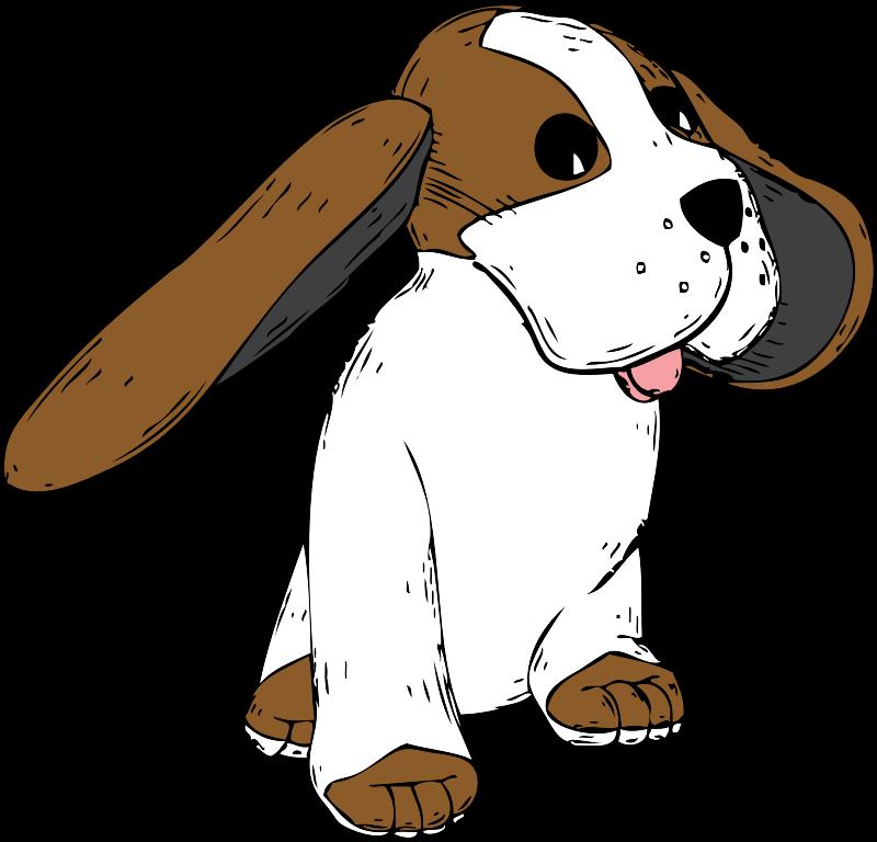 Long dog clipart image royalty free stock Clipart - big earred dog image royalty free stock