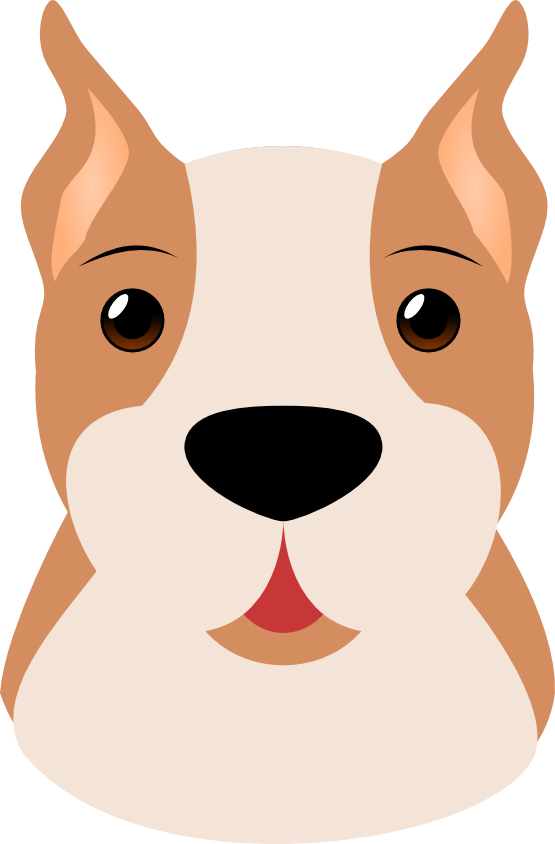 Dog mask clipart. Cute face