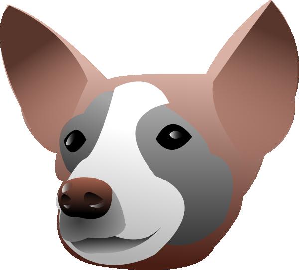 Dog head clipart svg freeuse stock Dog Head Portrait Clip Art at Clker.com - vector clip art online ... svg freeuse stock