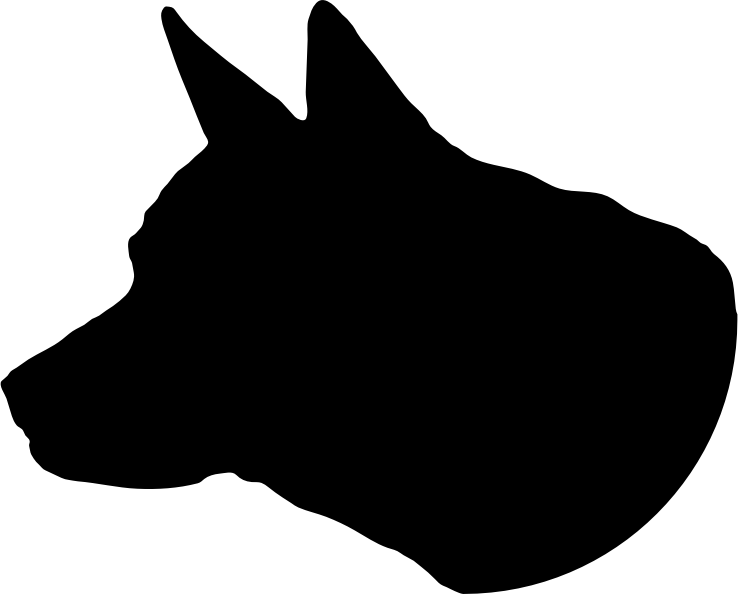 Clipart dog head clip black and white stock Clipart - Dog Head Silhouette clip black and white stock