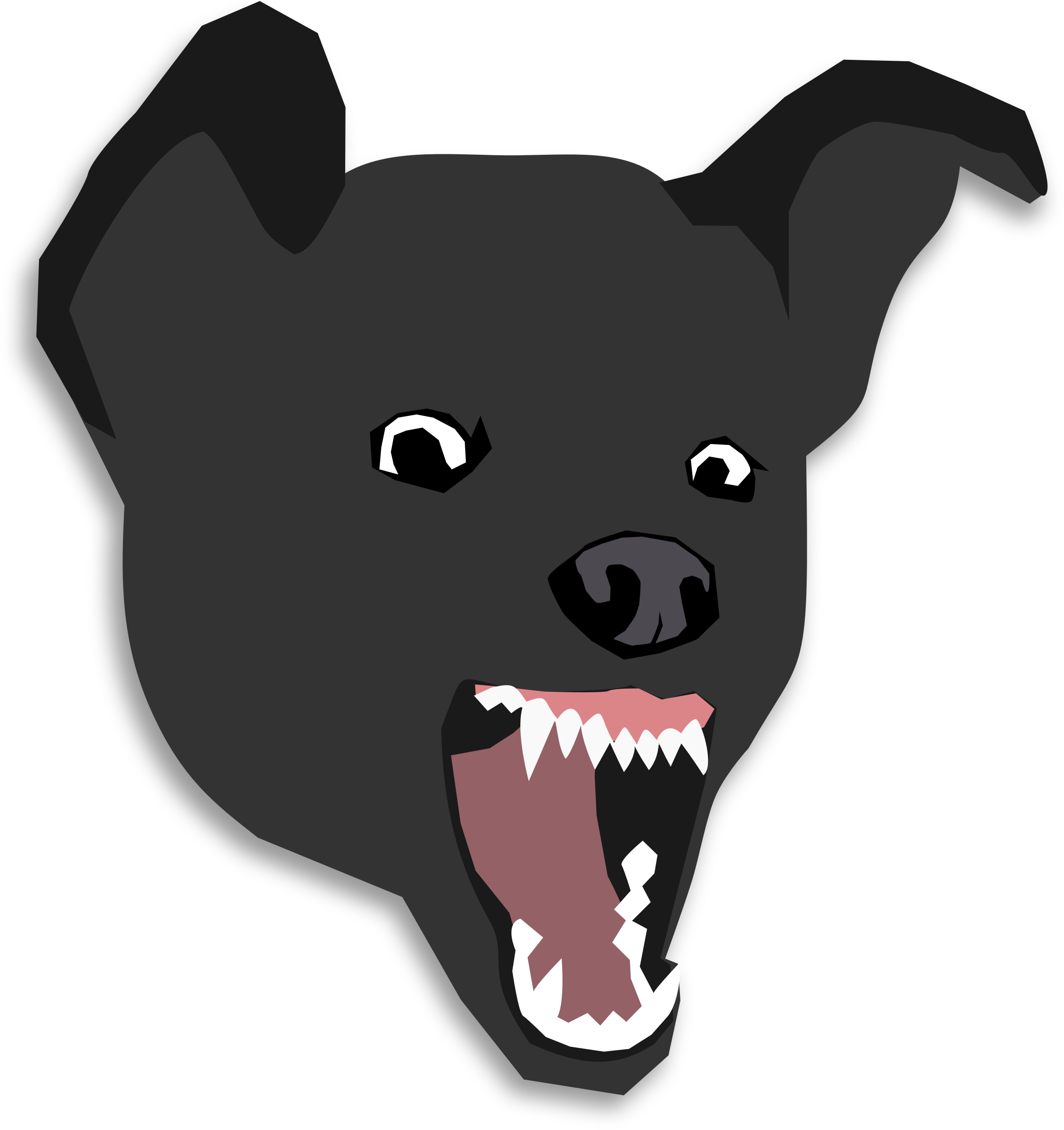 Clipart dog head clip freeuse library Clipart - Mean Dog clip freeuse library