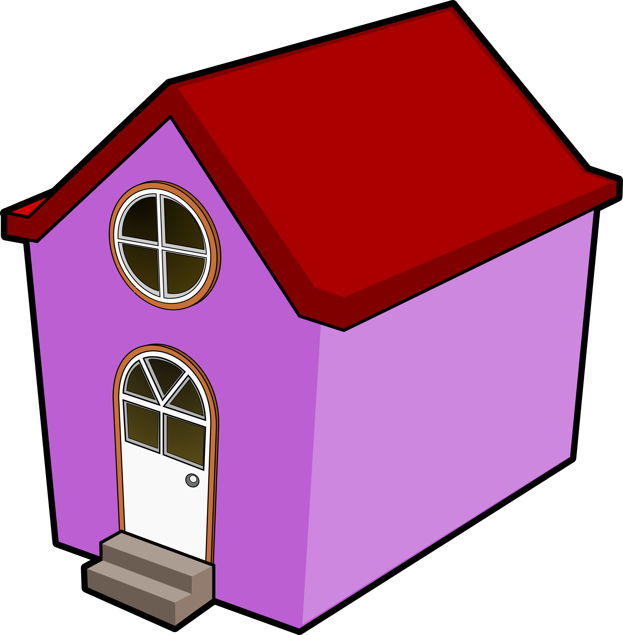 Clipart dog house vector freeuse stock Clipart - A Little Purple House vector freeuse stock