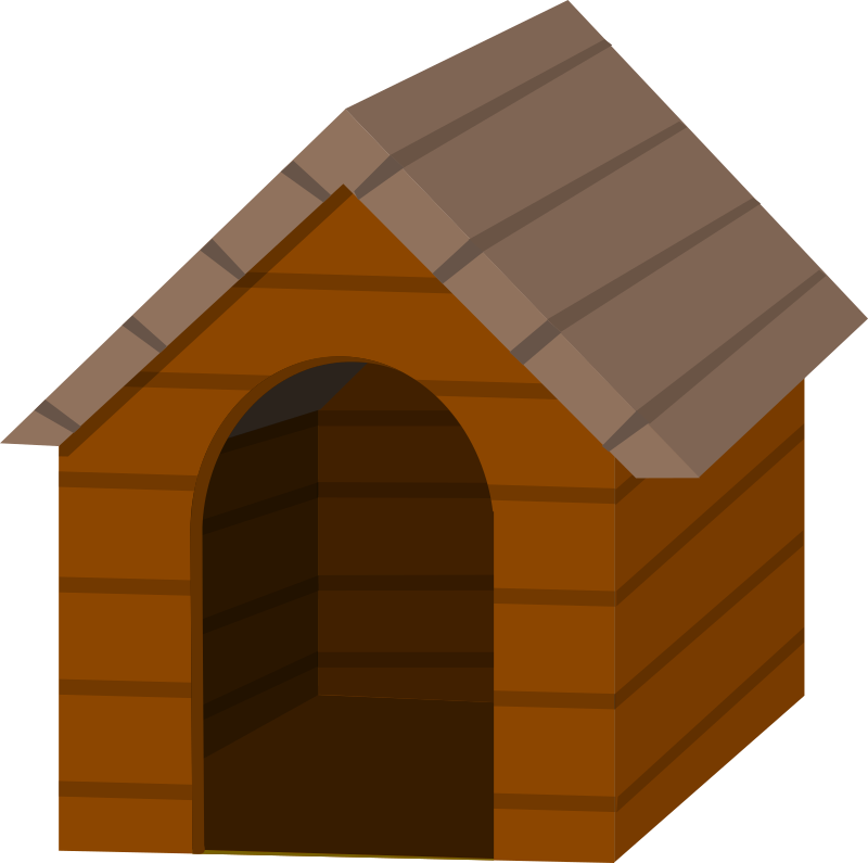 Dog houses clipart picture black and white library Clipart - Brown doghouse picture black and white library