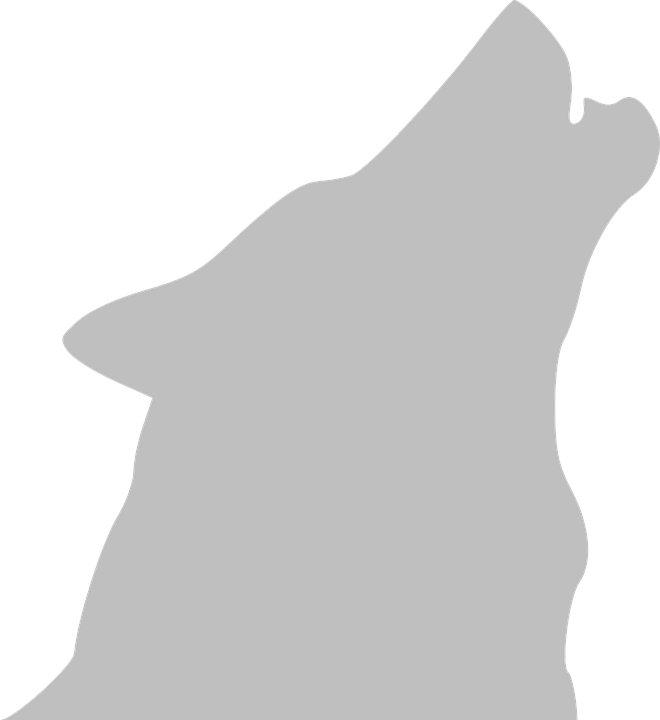 Clipart dog howling at moon clip transparent download Silhouette Wolf Howling at GetDrawings.com   Free for personal use ... clip transparent download
