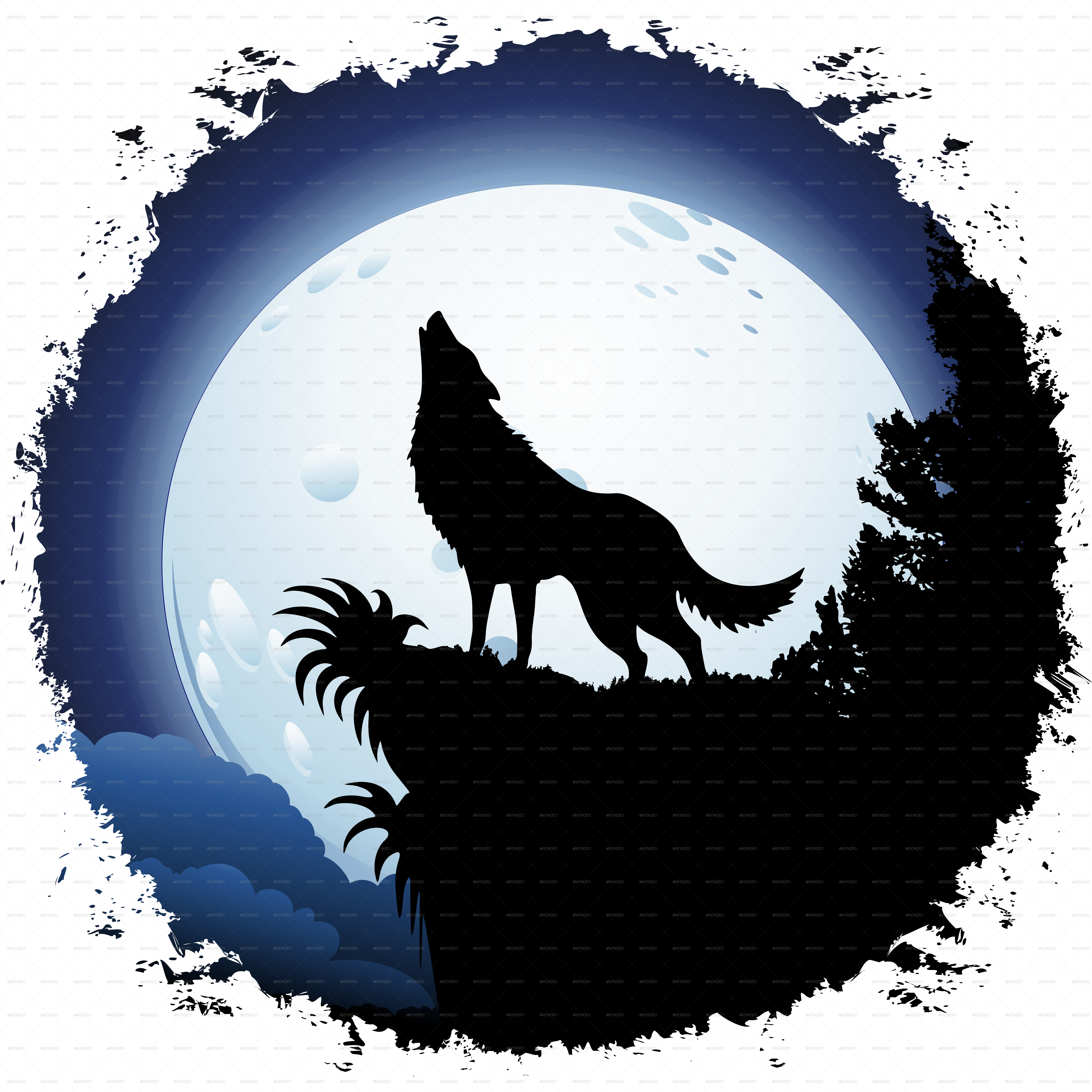 Clipart dog howling at moon jpg royalty free library Silhouette Of A Wolf Howling at GetDrawings.com | Free for personal ... jpg royalty free library